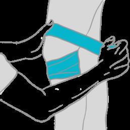 Medical Flossing, um Schmerzen zu lindern und die Beweglichkeit zu verbessern
